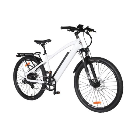 "T4B Enduro Hard Tail City and All Terrain Bike - Bafang 350W Brushless Electric Motor, 8 Speed, Samsung Li-Ion Battery 36V13Ah, 27.5"" Tires - White - image 6 de 12"