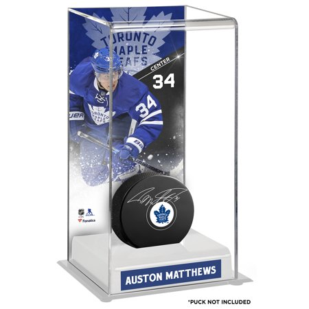 Auston Matthews Toronto Maple Leafs Fanatics Authentic Deluxe Tall Hockey Puck Case - No Size Toronto Maple Leaf Tickets