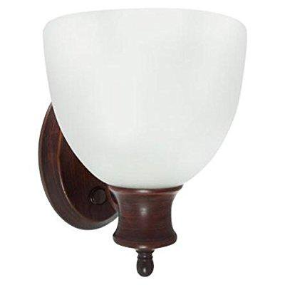 efficient lighting interior wall sconce lighting fixture with built-in switch, energy star qualified