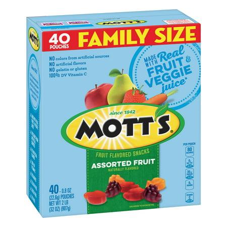 (2 Pack) Mott's Medleys Fruit Snacks Family Size 40 Pouches 0.8 oz Each