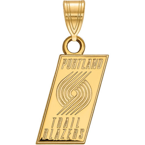 LogoArt NBA Portland Trail Blazers 14kt Yellow Gold Small Pendant