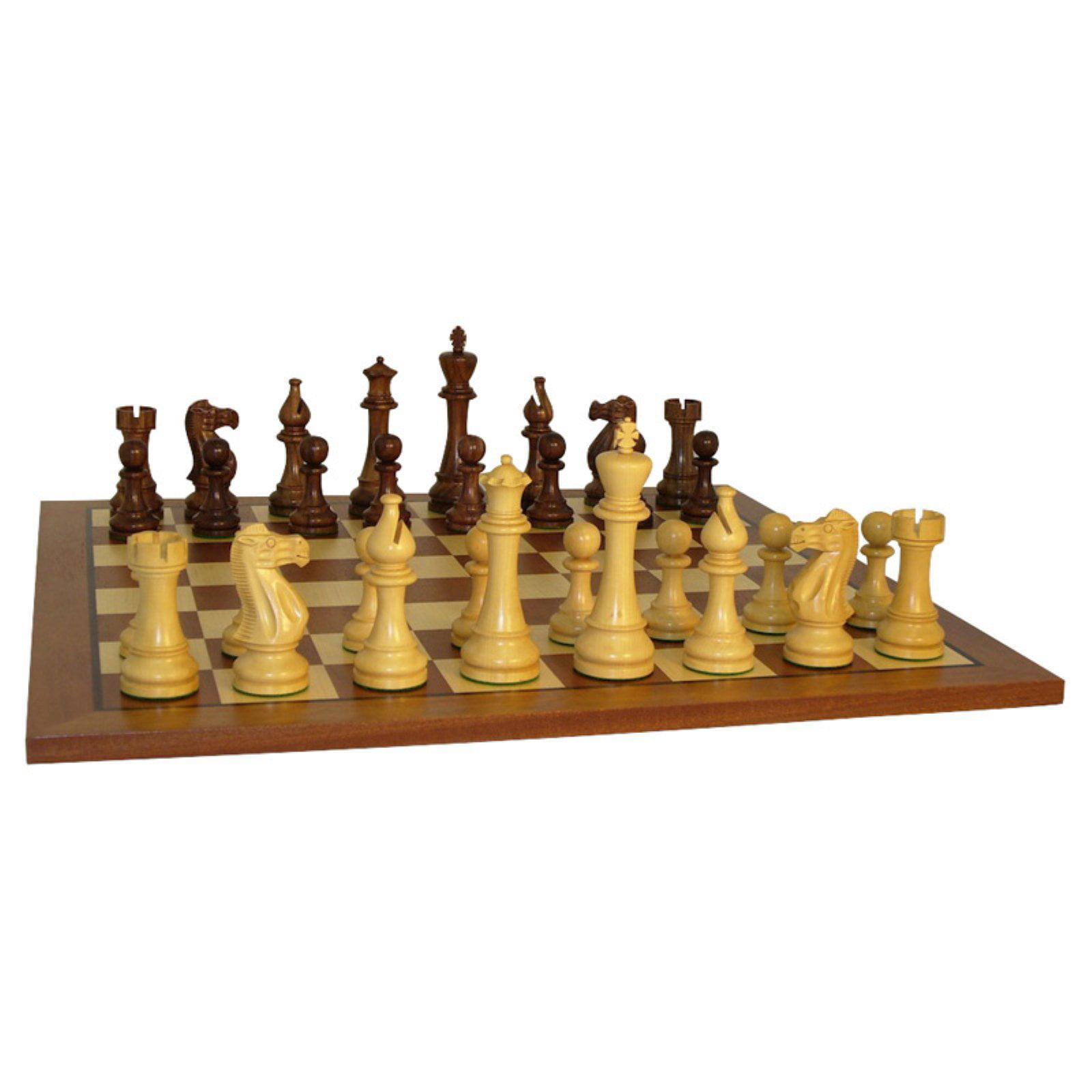 Jumbo Staunton Chess Set on Sapele Board by WorldWise Imports