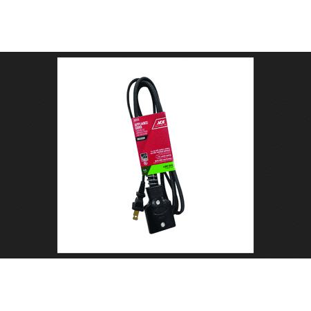Ace 16/2 HPN 125 volts Appliance Cord 6 ft. L Black