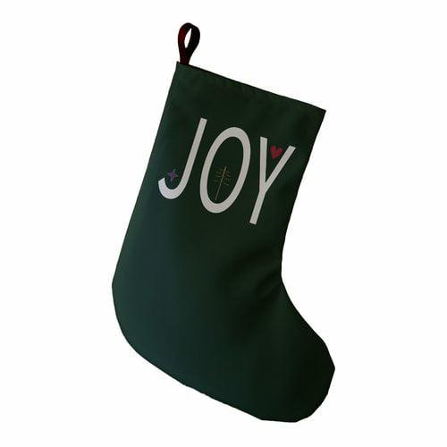 The Holiday Aisle Joy Filled Season Word Print Christmas Stocking