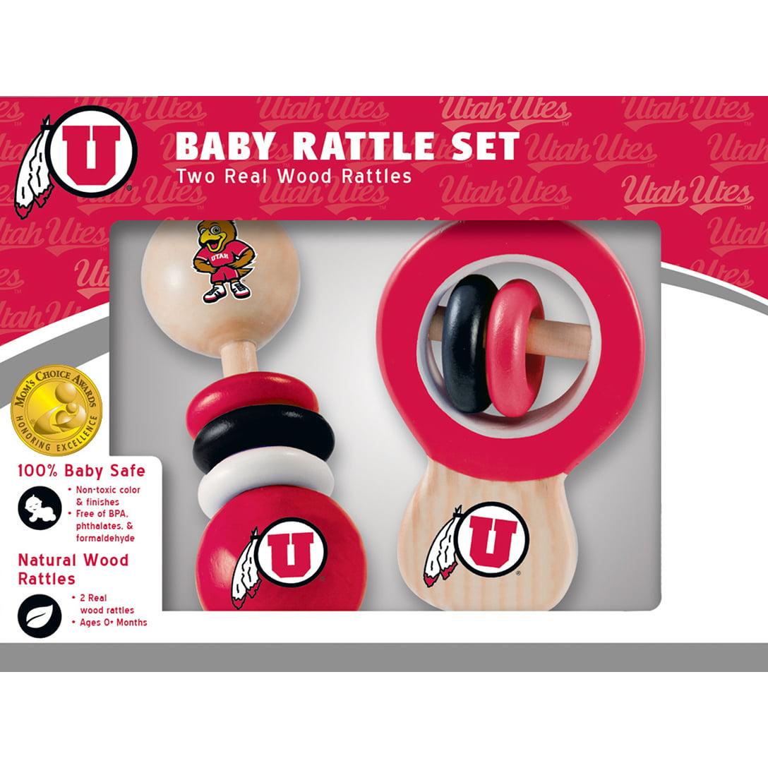 Utah Real Wood Baby Rattles (2-Pack)
