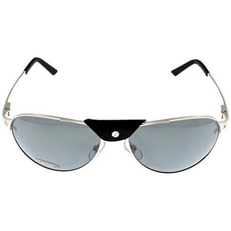 895f6cfe021 Cartier - Cartier Sunglasses Edition Santos-Dumont Unisex Polarized  T8200892 Aviator Size  Lens  Bridge  Temple  61-16-135 - Walmart.com