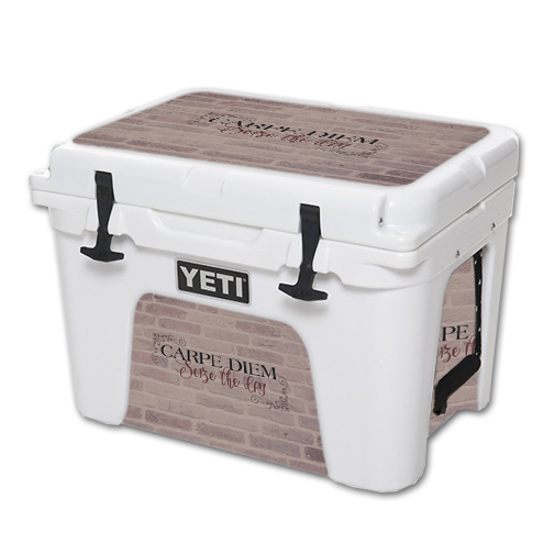 MightySkins Protective Vinyl Skin Decal for YETI Tundra 35 qt Cooler wrap cover sticker skins Carpe Diem