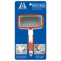 Millers Forge Self Cleaning Soft Slicker Brush for Small Dogs and Puppies