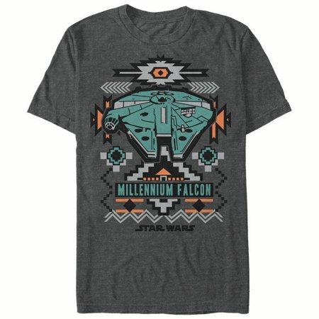 Star Wars Men's Millennium Falcon Southwest Print (Southwest Design T-shirt)