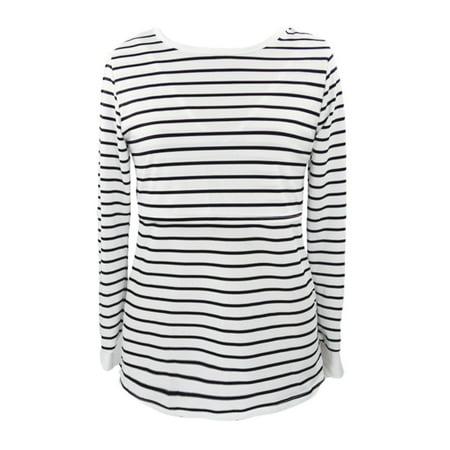 8245f3e92 Women Mom 2019 hot sales Pregnantt Nursing Baby Maternity Long Sleeved  Stripe Tops Blouse Clothe - Walmart.com