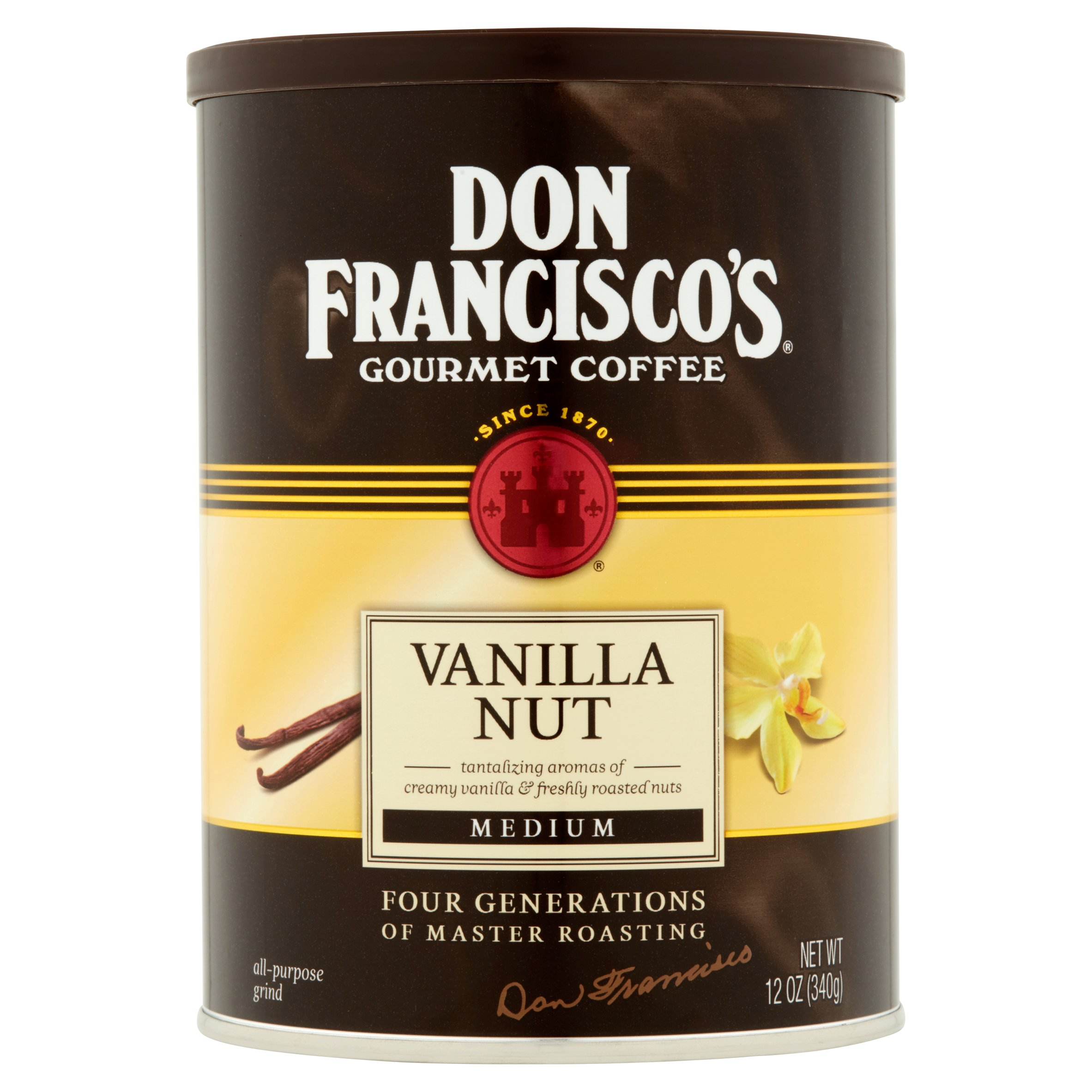 Don Francisco's Vanilla Nut Specialty Flavored Ground Coffee, 12 Oz