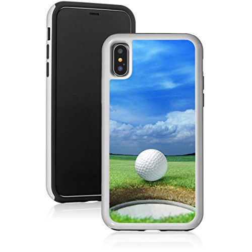 Shockproof Impact Hard Soft Case Cover For Apple Iphone Golf Ball On Lip Of Cup Green Course White For Apple Iphone Xs Max Walmart Com Walmart Com