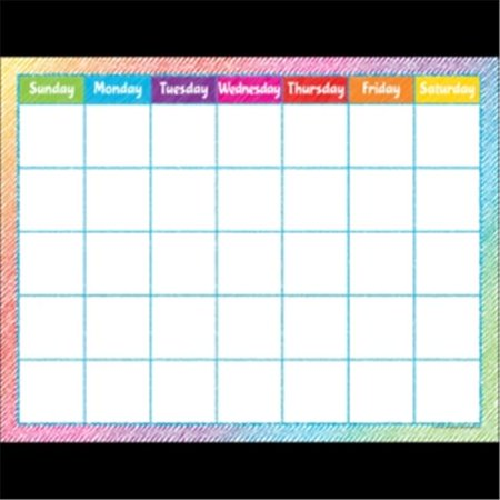 Teacher Created Resources TCR7525 Colorful Scribble Calendar Chart ()