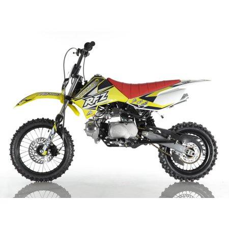 - Yellow Apollo DB-X4 RFZ 110cc RACING DIRT BIKE, 4 Stroke Air Cooled, Single Cylinder