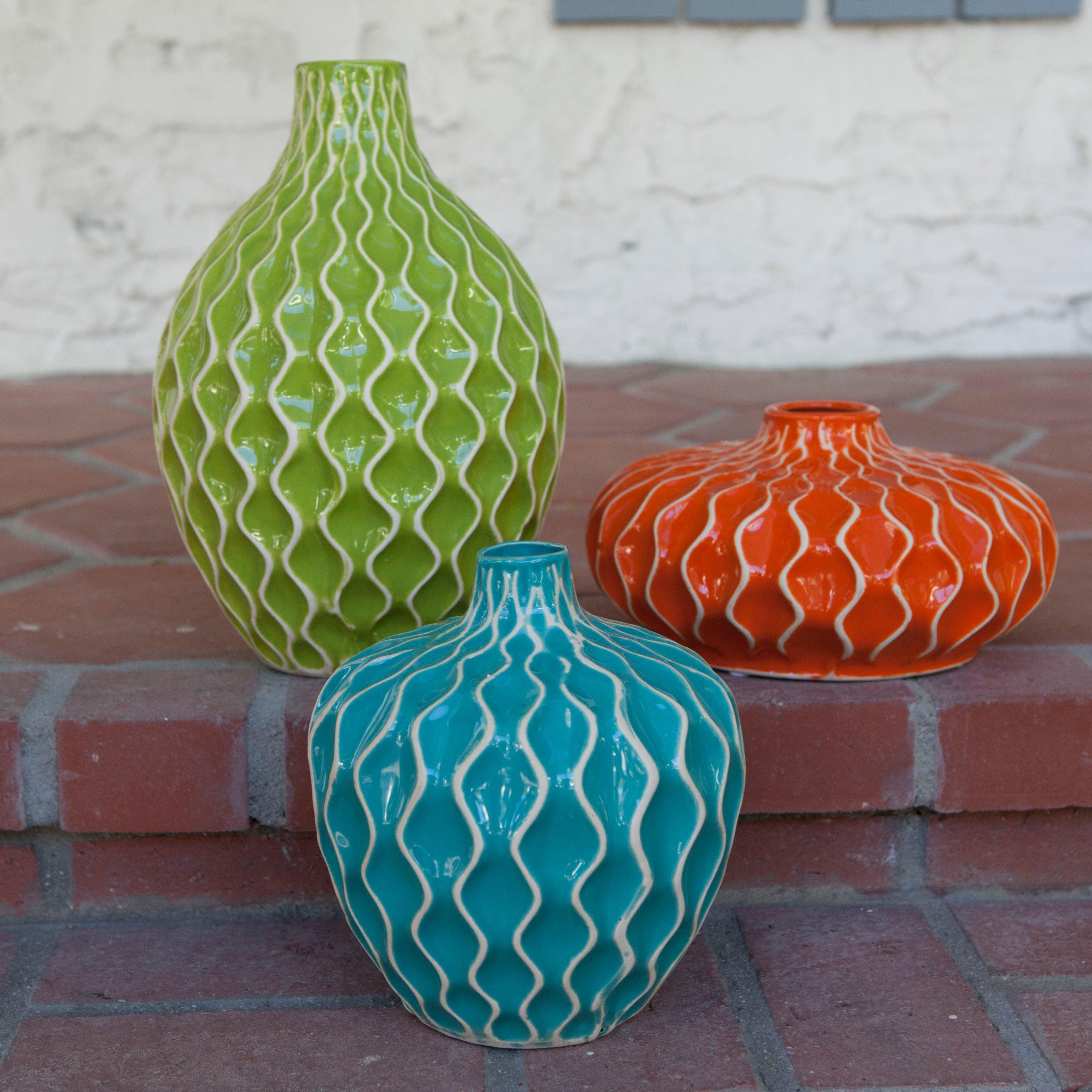 IMAX Agatha Ceramic Vases Set of 3 Walmart