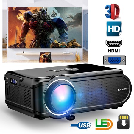 Excelvan BL-90 (EHD02) Mini LED Multimedia Projector 800*480 Support 1080P For Home Cinema Theater With VGA HDMI USB SD AV ATV Interfaces