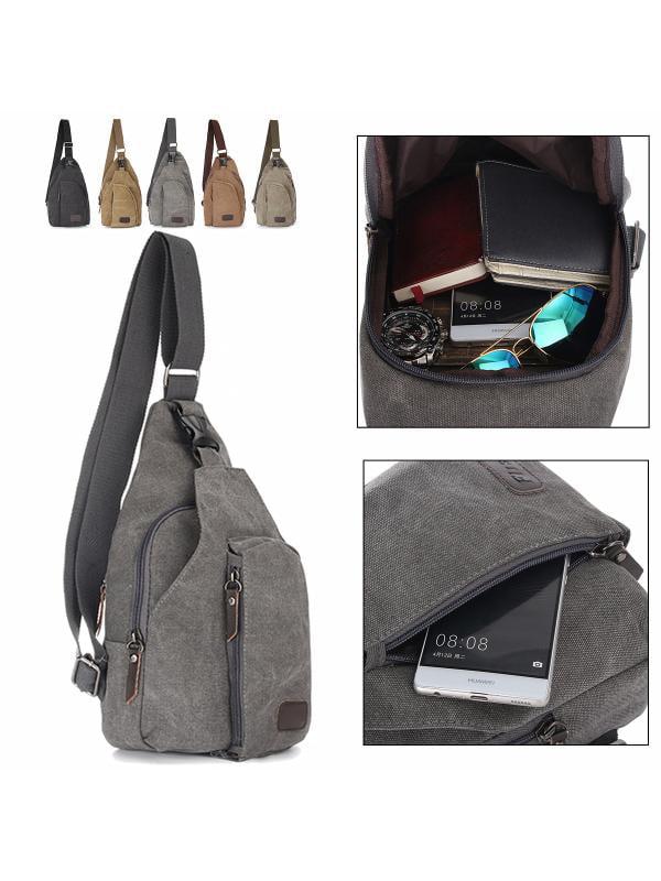 Small Military Army Vintage Tactical Canvas Shoulder Backpack Messenger Bag Satchel bag Trekking Sport Travel Rucksacks... by