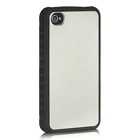 iPhone 4S Case, by Insten Collection Fusion Series Shockers TPU Rubber Case For Apple iPhone 4 /