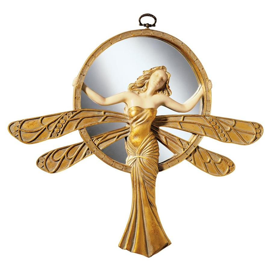 Dragonfly Art Deco Wall Mirror