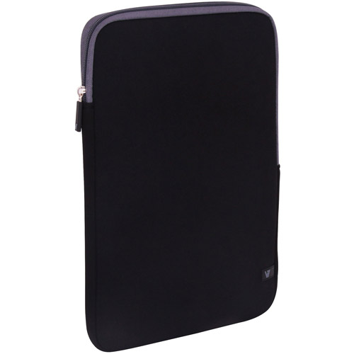 "V7 Ultra Protective Sleeve for Ultrabooks and Laptops up to 13.3"", Black/Gray"