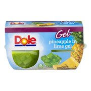Dole Pineapple in Lime Gel - 4 CT