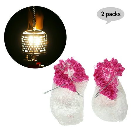 2 PCS Outdoor Camping Light Lamp Lantern Mantles Lampwick Tent Gas Lamp Cover Gauze Inverted -