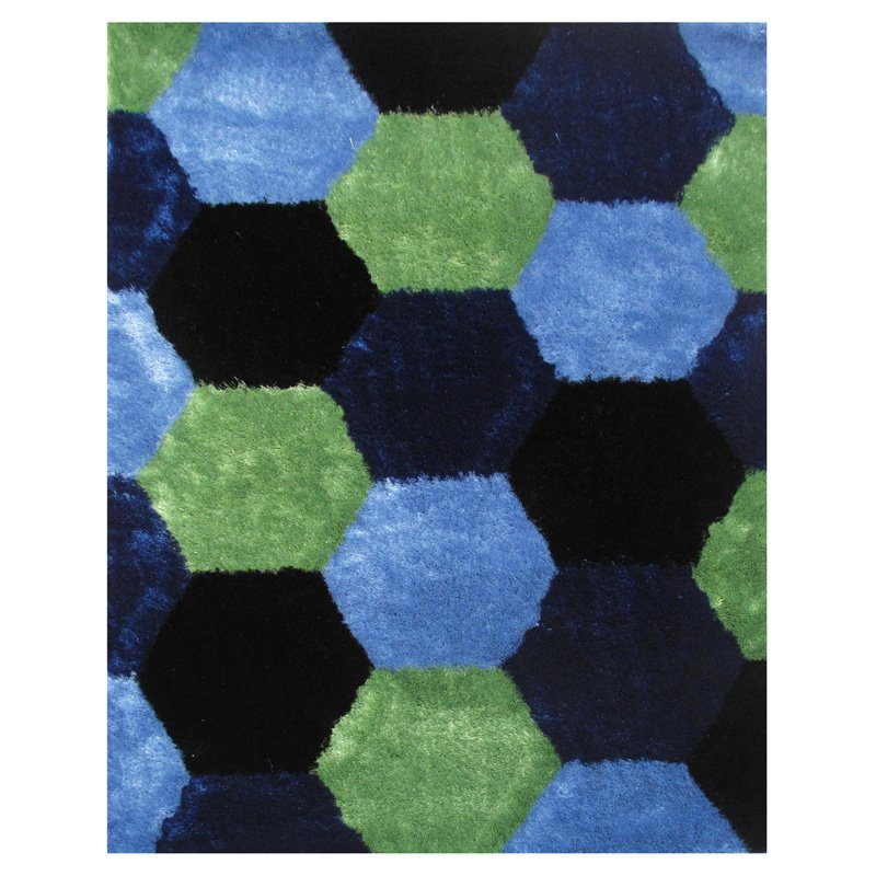LA Rugs Exotic Hexagon Collection