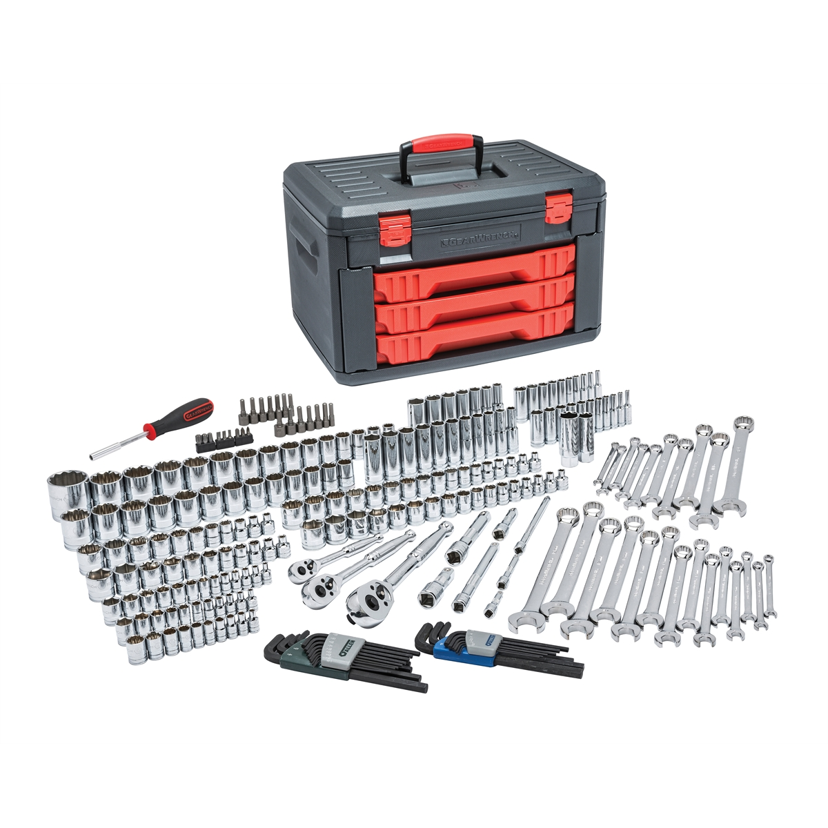 239 Pc. SAE Metric Mechanic's Tool Set with 3 Drawer Case