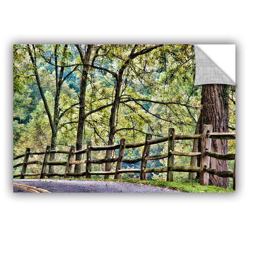 ArtWall Shaded Split Rail Fence by Julie Mann Sperry Wall Mural