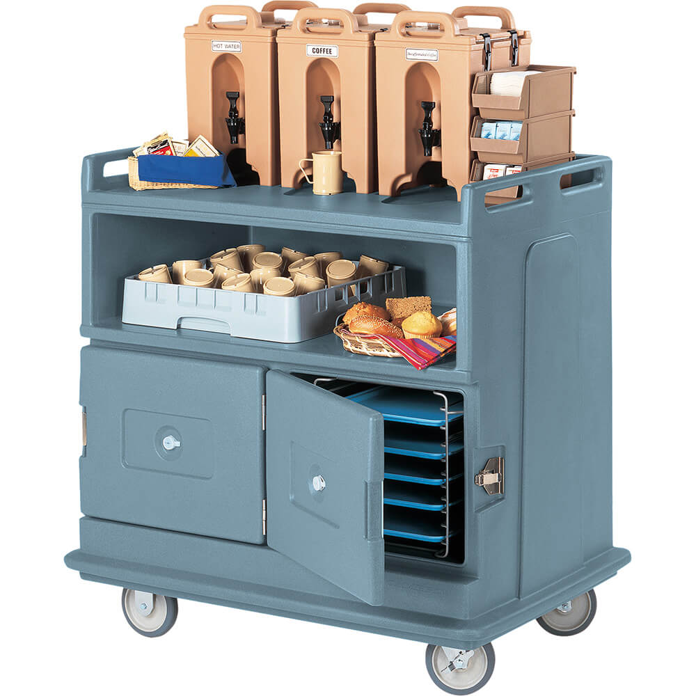 Cambro Beverage Cart, Recessed Top, Slate Blue, MDC24-401 by Cambro