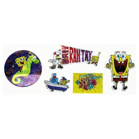 - Spongebob Squarepants KAH RAH TAY Sticker Assortment (5 Stickers)