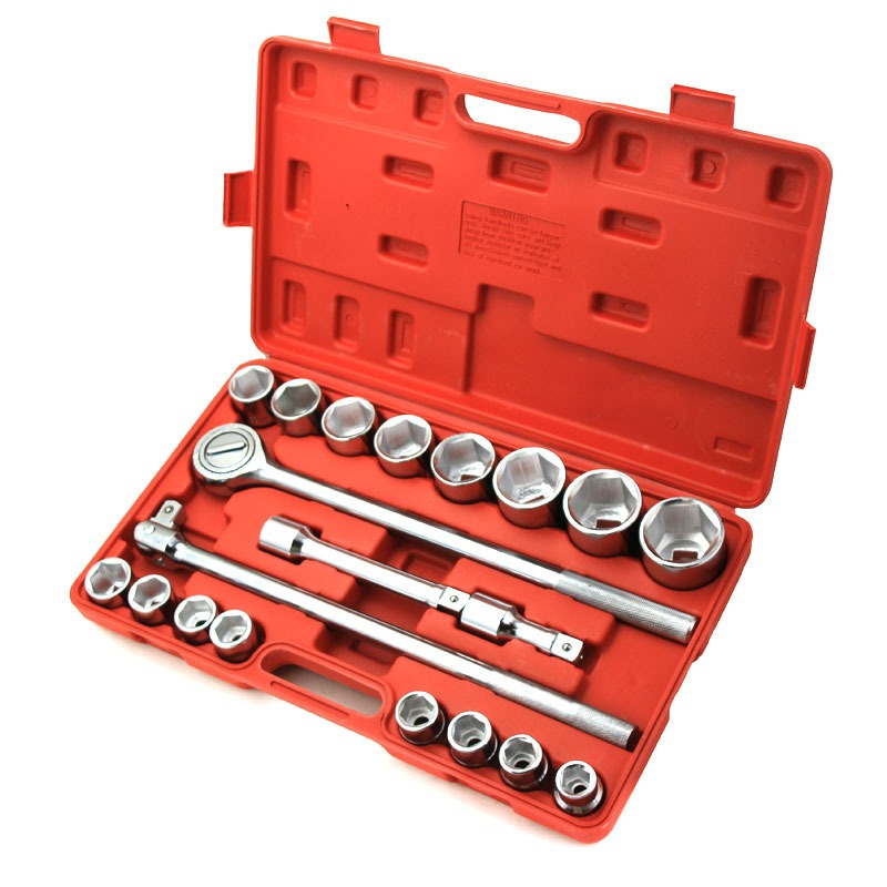 "Click here to buy 3 4"" 6-Point Drive Auto Ratchet Sockets Wrench Repair Tool Set with Case, 21PC by XtremepowerUS."