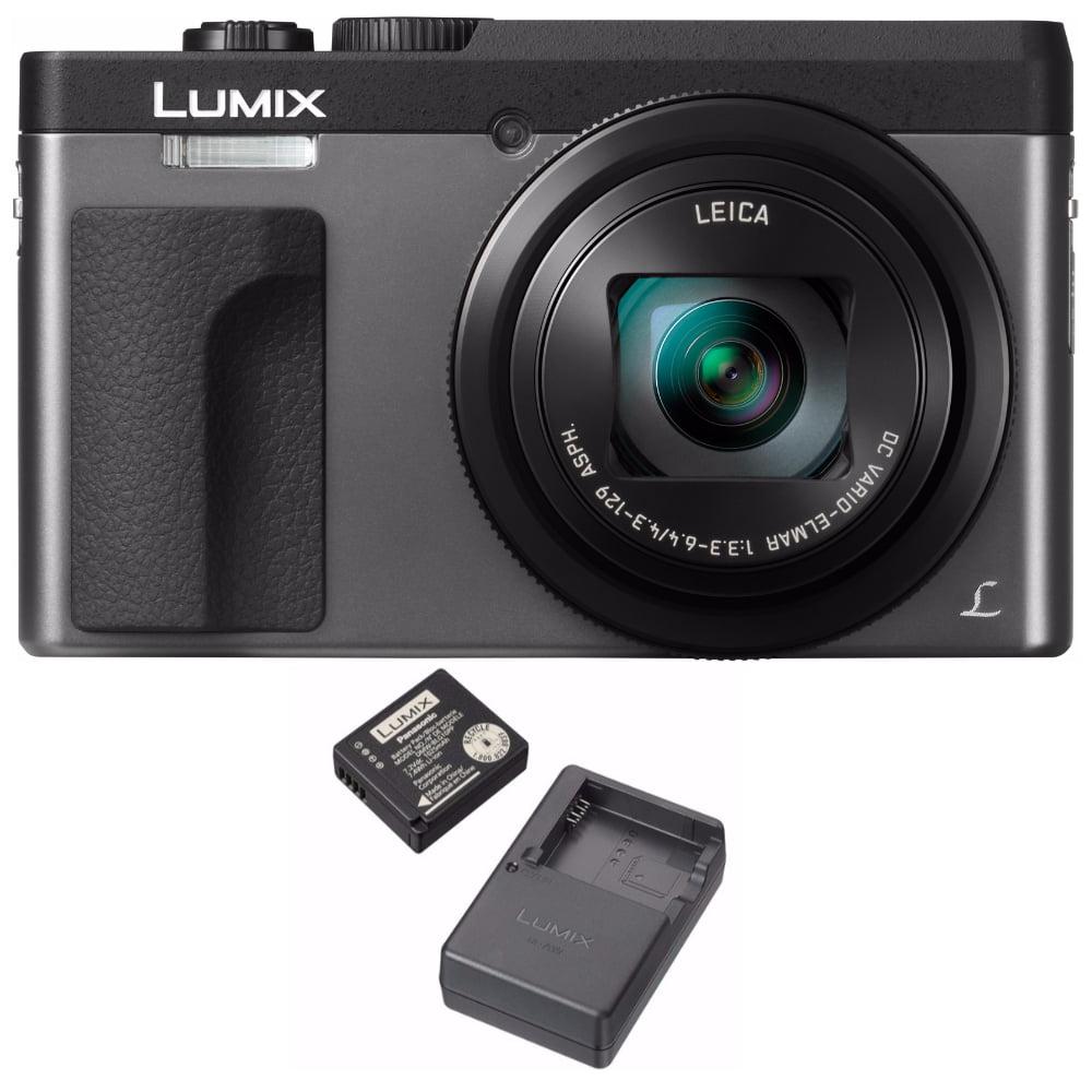 Panasonic LUMIX DC-ZS70 Digital Camera (Silver) + Battery and Charger Travel Bundle