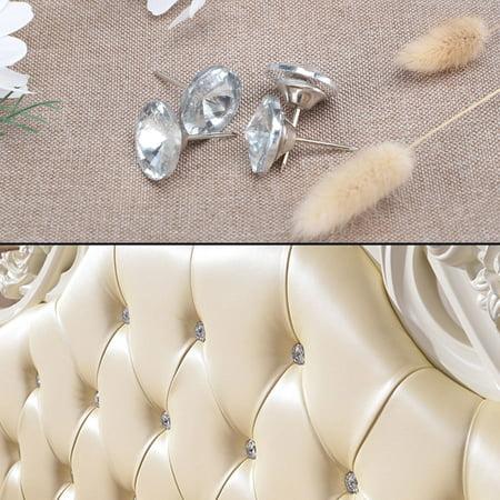Doors High Tack - 18mm Home Crystal Head Tack Thumb Nails Push Pin Round Door Nail Home Decoration, 20pcs