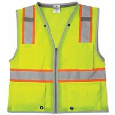 Brilliant Series Heavy Duty Class 2 Vests, 3X-Large, Lime