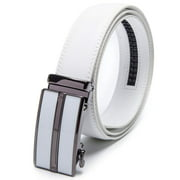 "Men's Belt Genuine Leather Belt Automatic Buckle Ratchet Dress Belt for Men Perfect Fit Waist Size Up to 46""-Functional, Stylish and Durable"
