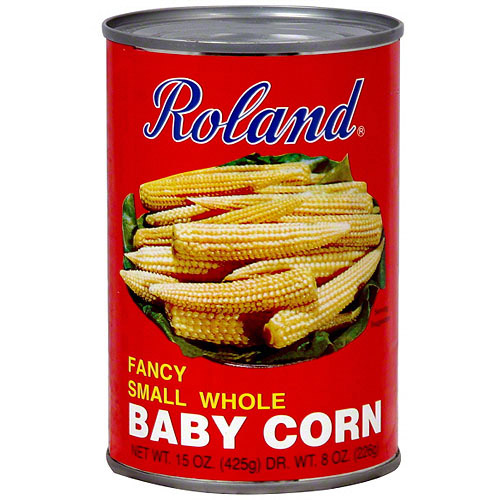 Roland Fancy Small Whole Baby Corn, 15 oz (Pack of 12)