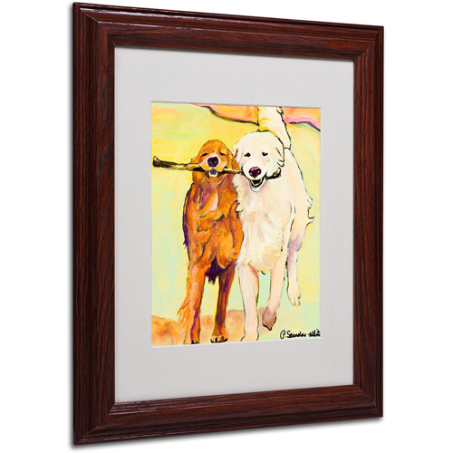 Trademark Art 'Stick With Me 1' Matted Framed Art by Pat Saunders