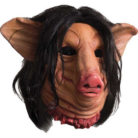 Morris Costumes Full Over Head Latex Mask Saw Pig Face Mask, Style RU68693 - Saw Pig Halloween Costume