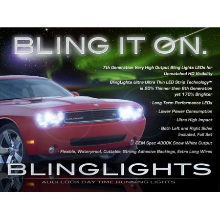 Dodge Challenger Led Drl Light Strips Day Time Running Lamps For