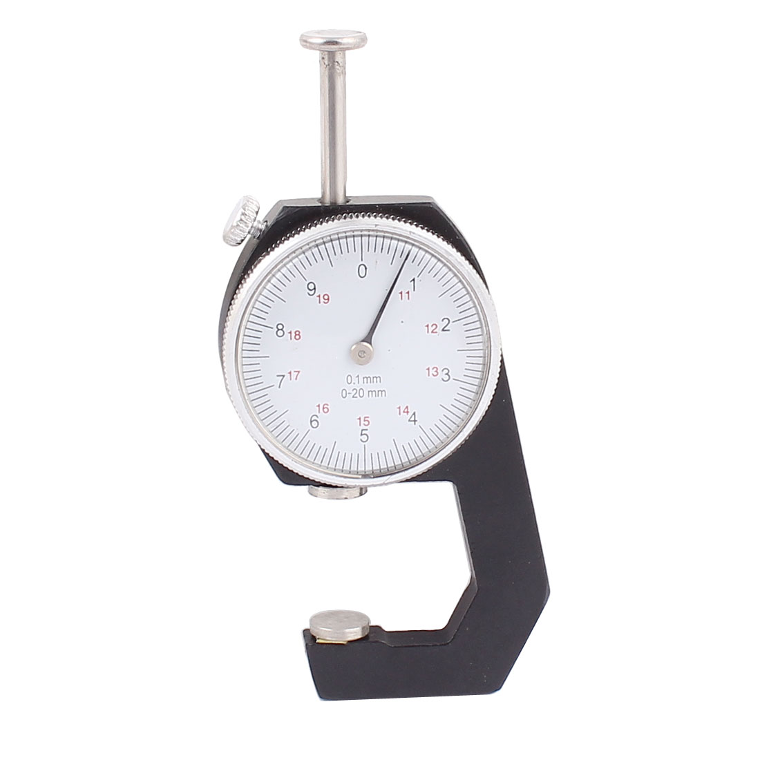 Unique Bargains 0 to 20mm 0.1mm Accuracy Dial Indicator Pocket Thickness Gauge Scale Meter by Unique-Bargains