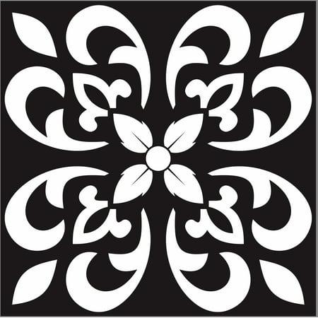 Visions 8 x 8 Ceramic Tile in Pamplona Black (10.76 sqft/25 Pc)