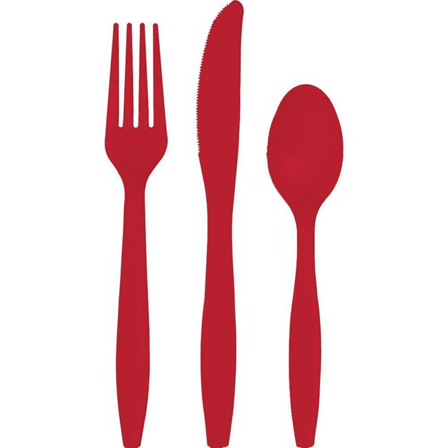 Group  Classic Red Assorted Cutlery, Pack of 12 - 18 per Pack - image 1 of 1