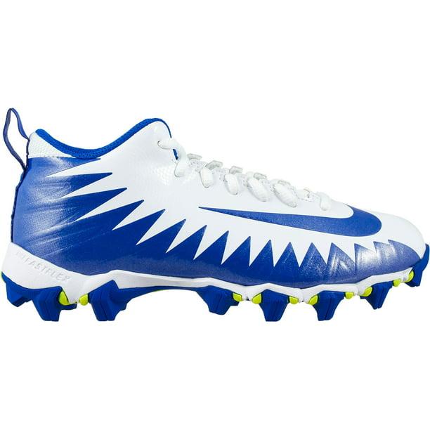 Nike Kids' Alpha Menace Shark Football Cleats White/Blue 6