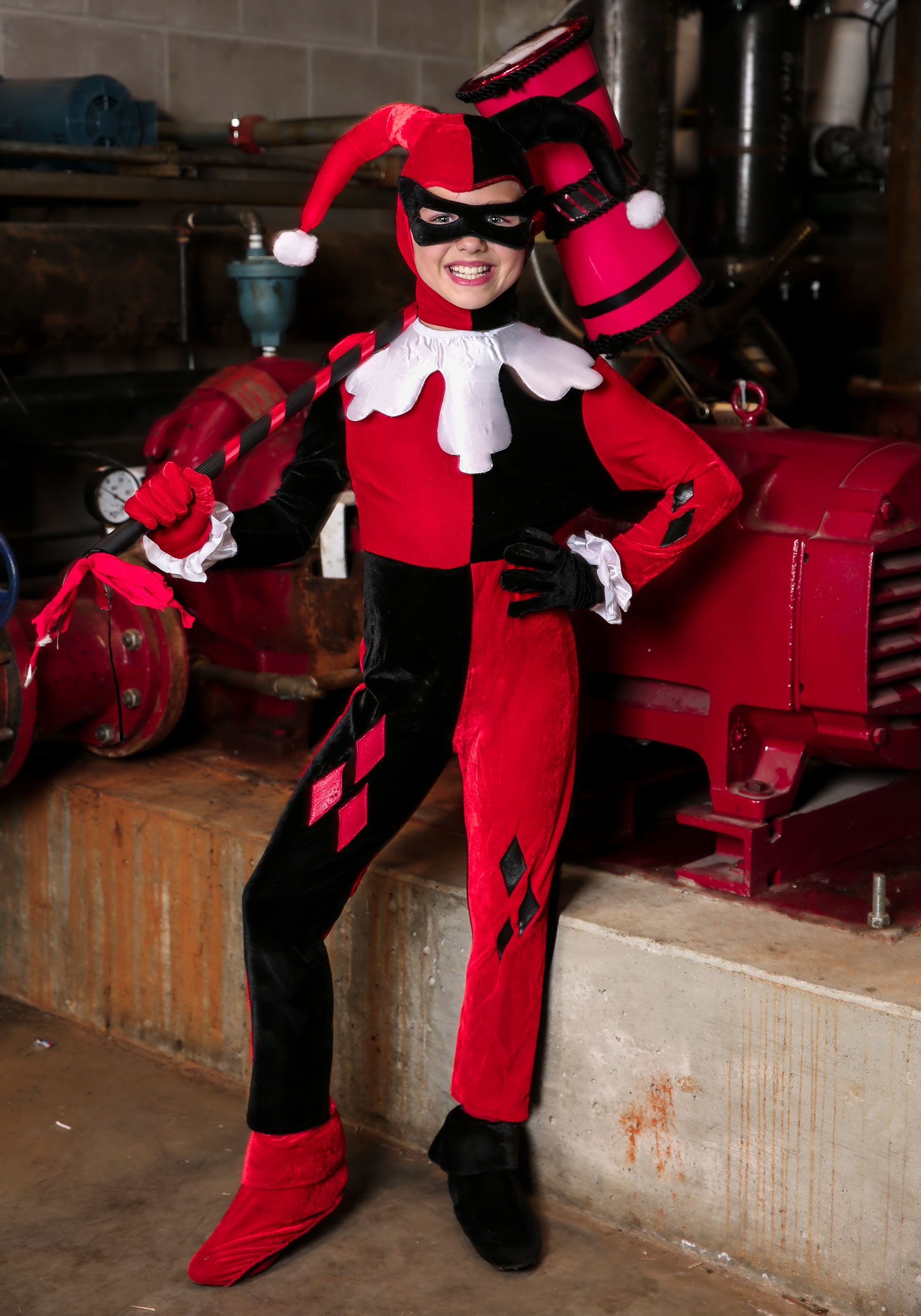 Child Harley Quinn Jumpsuit Costume by
