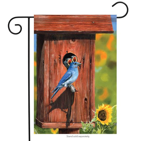 bluebird & house spring garden flag bird flower decorative banner 13