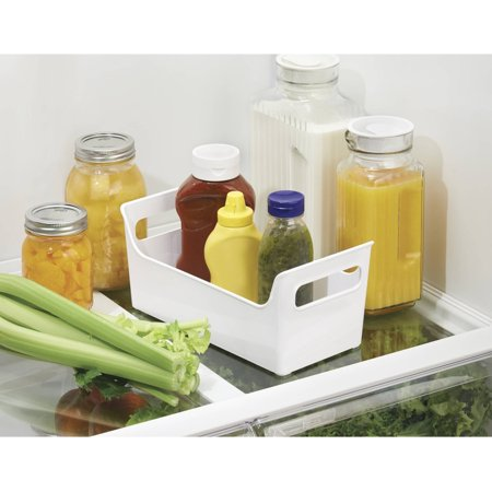 Interdesign Refrigerator And Freezer Storage Organizer Condiment Bin  White