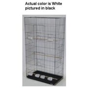 YML 3x2494WHT Lot of Three X-Large Bird Breeding Cages in White