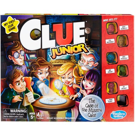 Classic Clue Junior Board Game for Kids Ages 5 and up - Group Games In The Dark