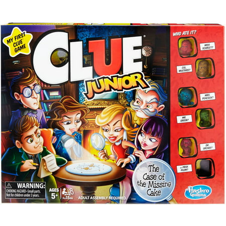 Classic Clue Junior Board Game for Kids Ages 5 and